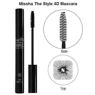 Mascara: #3 미샤 더 스타일 4D 마스카라 (Missha The Style 4D Mascara)