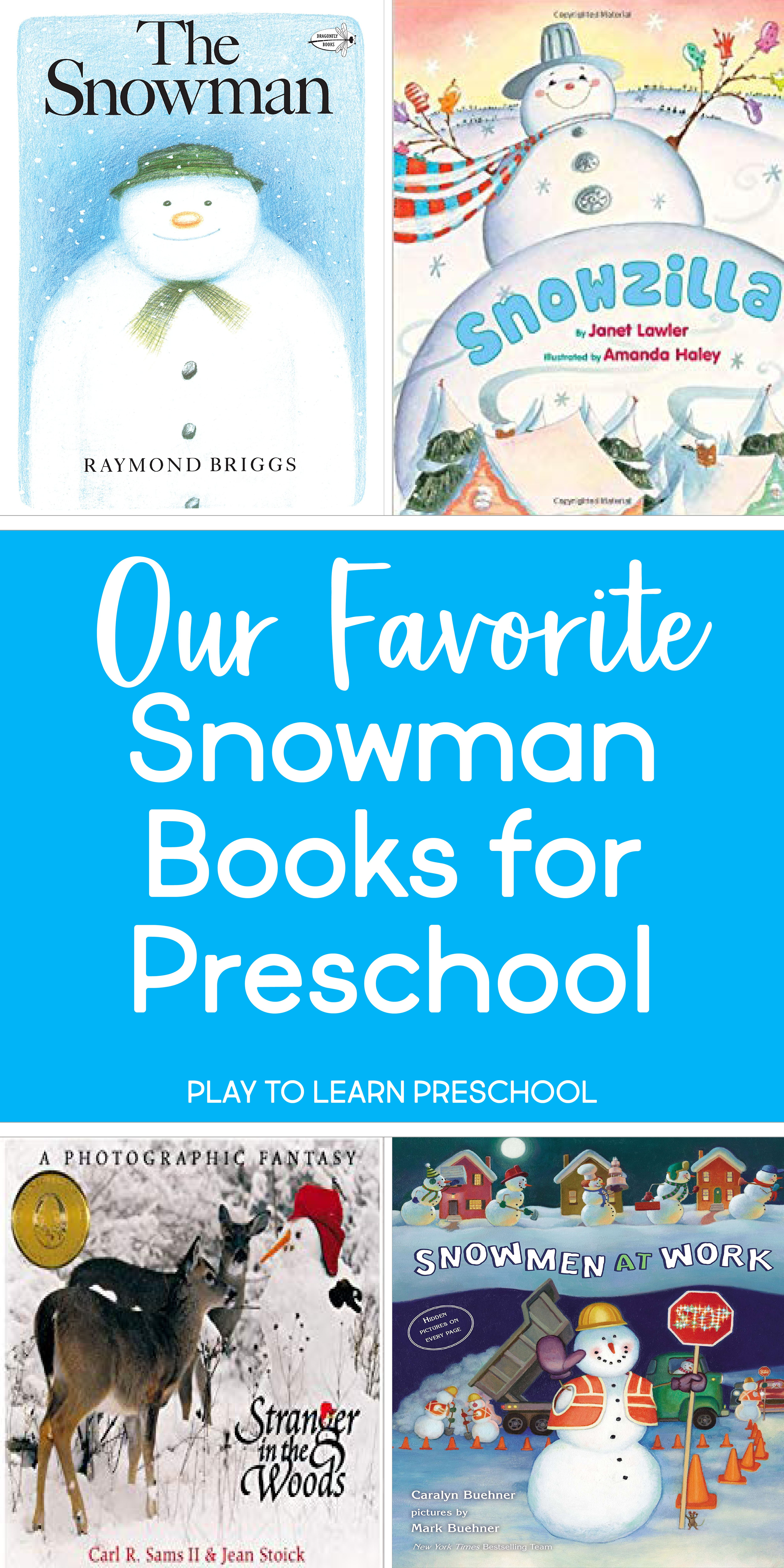 Favorite Snowman Books For Preschoolers With Images