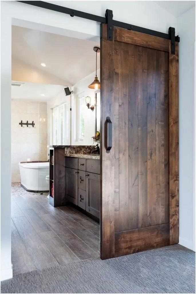 12 Cool Barn Door Closet Ideas You Can Diy 11 Bathroom Remodel Master Barn Bathroom Bathrooms Remodel