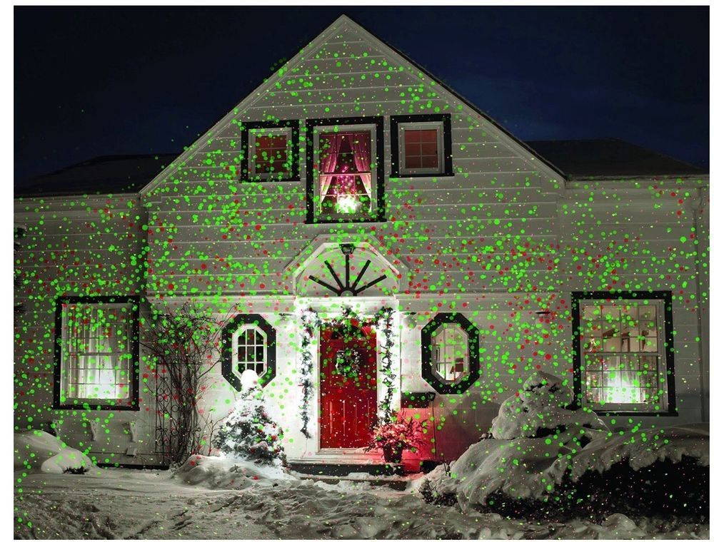 Christmas Laser Light Outdoor House Holiday Projector Landscape ...