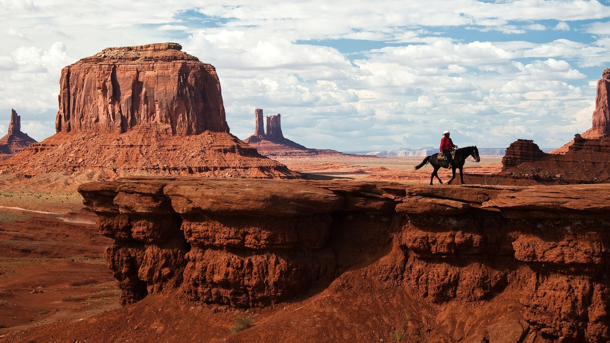 Dark Monument Valley Arizona HD Desktop Wallpaper for K