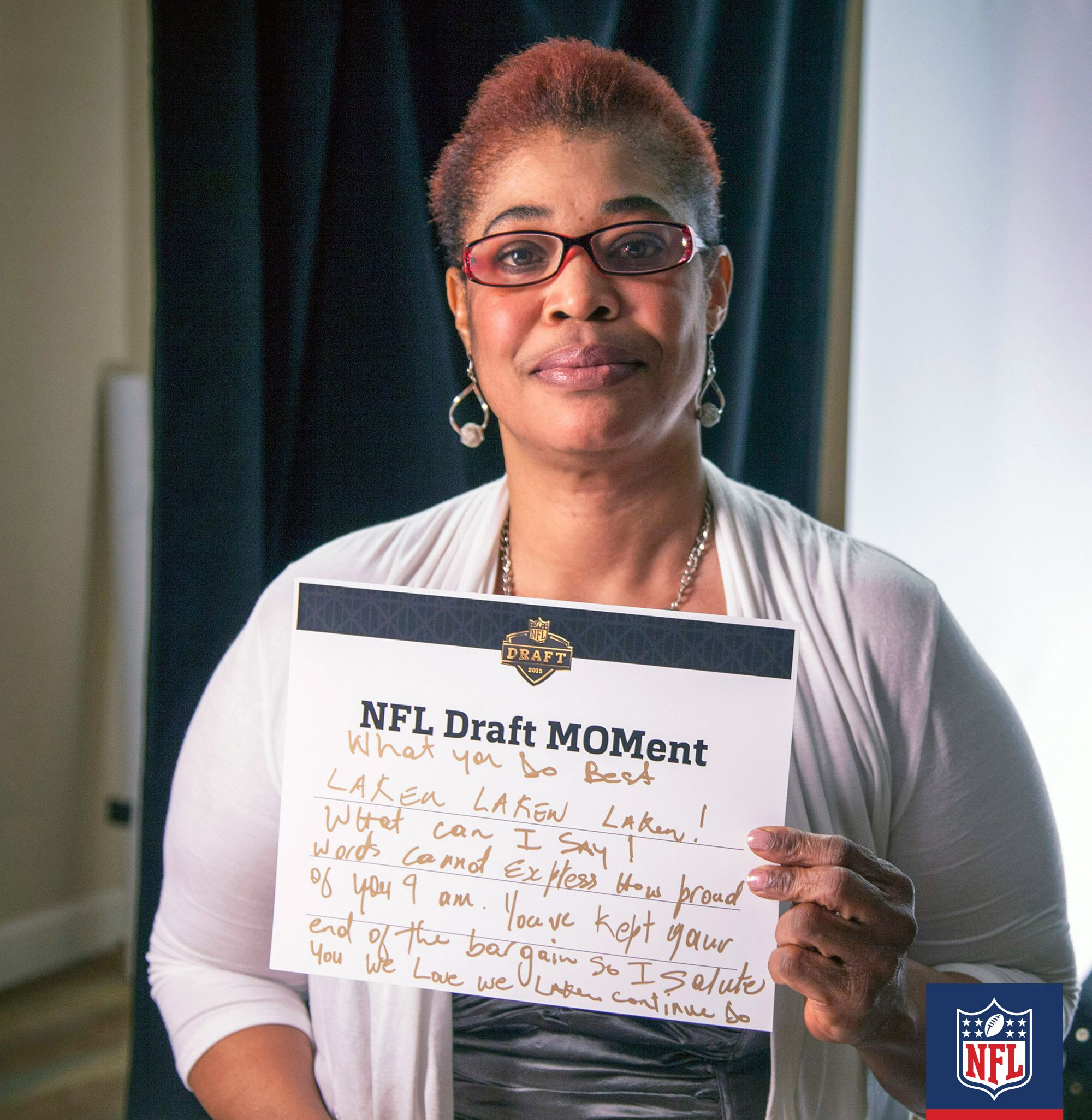 Audrey Wilson Mom Of Laken Tomlinson Who Was Drafted By The Detroit Lions Tells Her Son Just How Proud She Is Cl Nfl Players Nfl Football Players Pep Talks