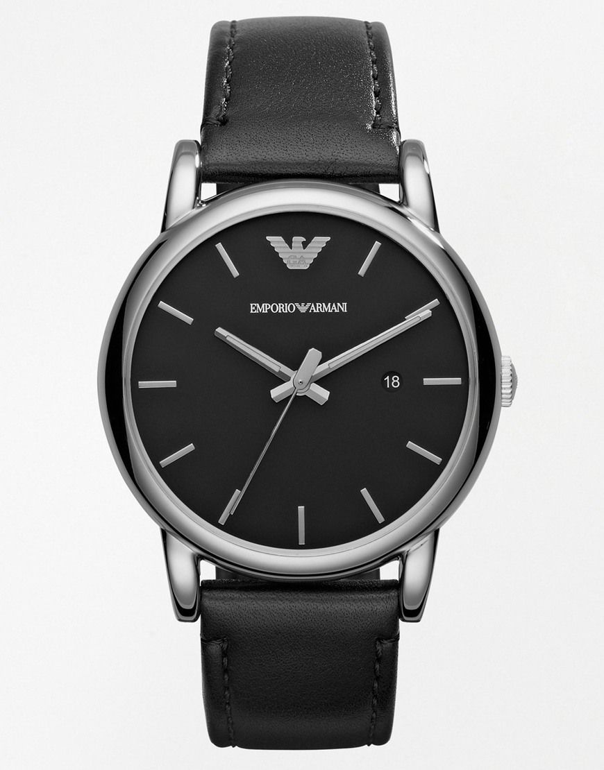 Image 1 of Emporio Armani Luigi Leather Strap Watch AR1692  d4b1d84dcf