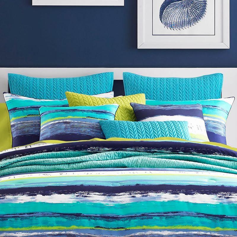 Cordoba Teal 4 Piece Comforter Set Comforter Sets Full Comforter Sets Comforters