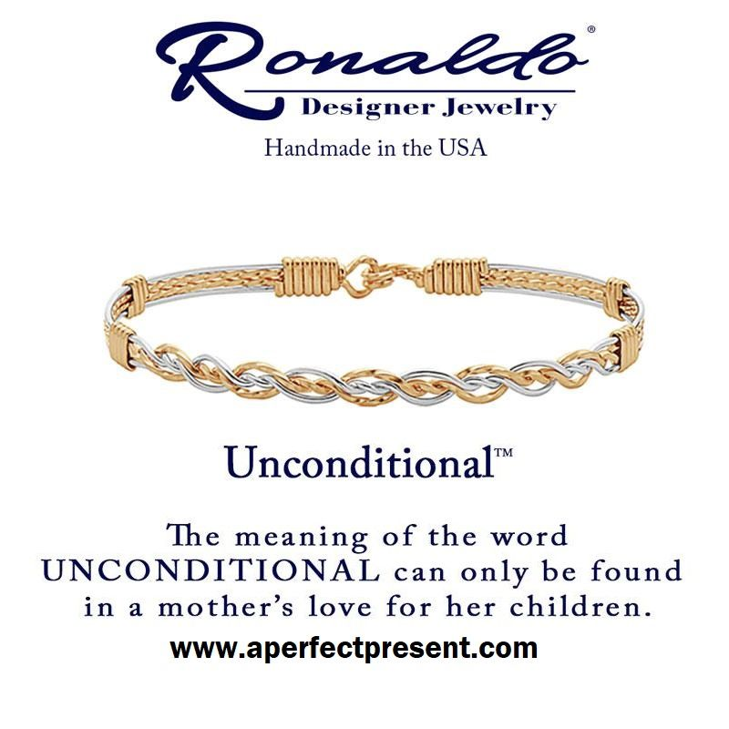 Unconditional Bracelet The Meaning Of The Word Unconditional Can Only Be Found In A Mother S L Ronaldo Designer Jewelry Ronaldo Bracelet Bracelets With Meaning