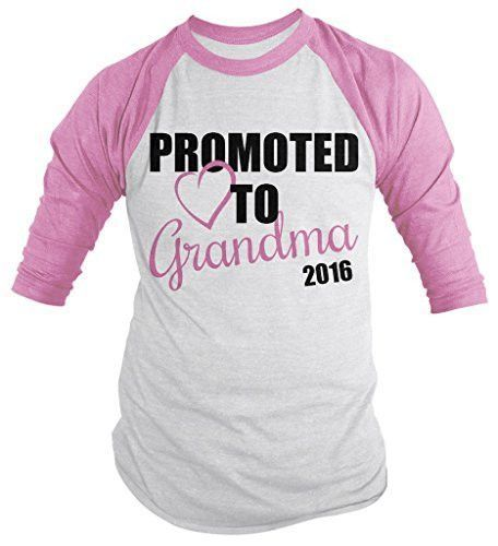 Shirts By Sarah Women S Promoted To Grandma 2016 Shirt Grandparents