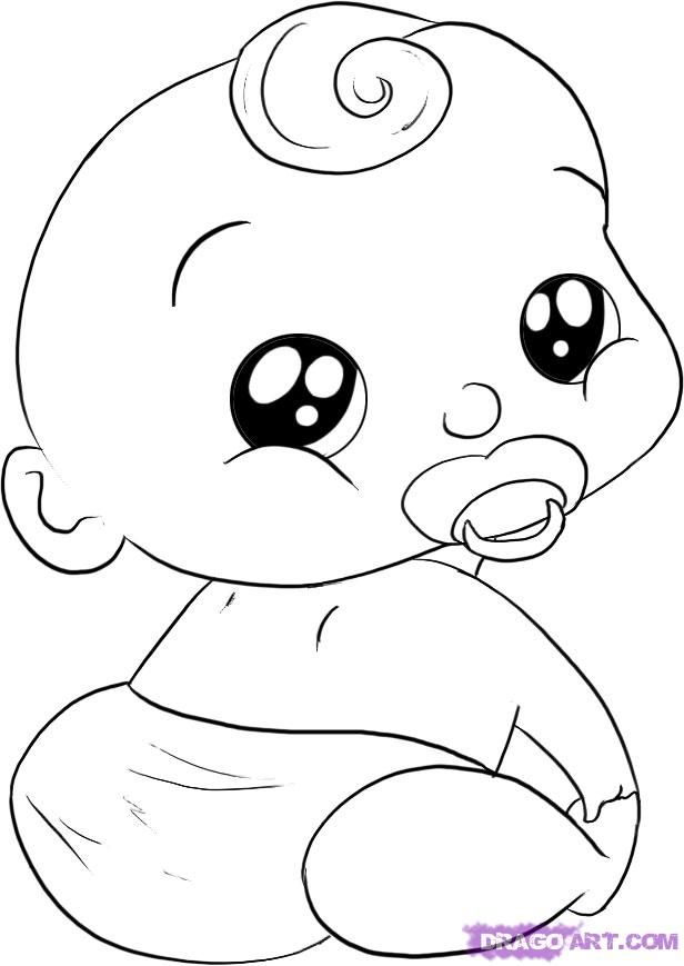 baby in diaper drawing - google zoeken