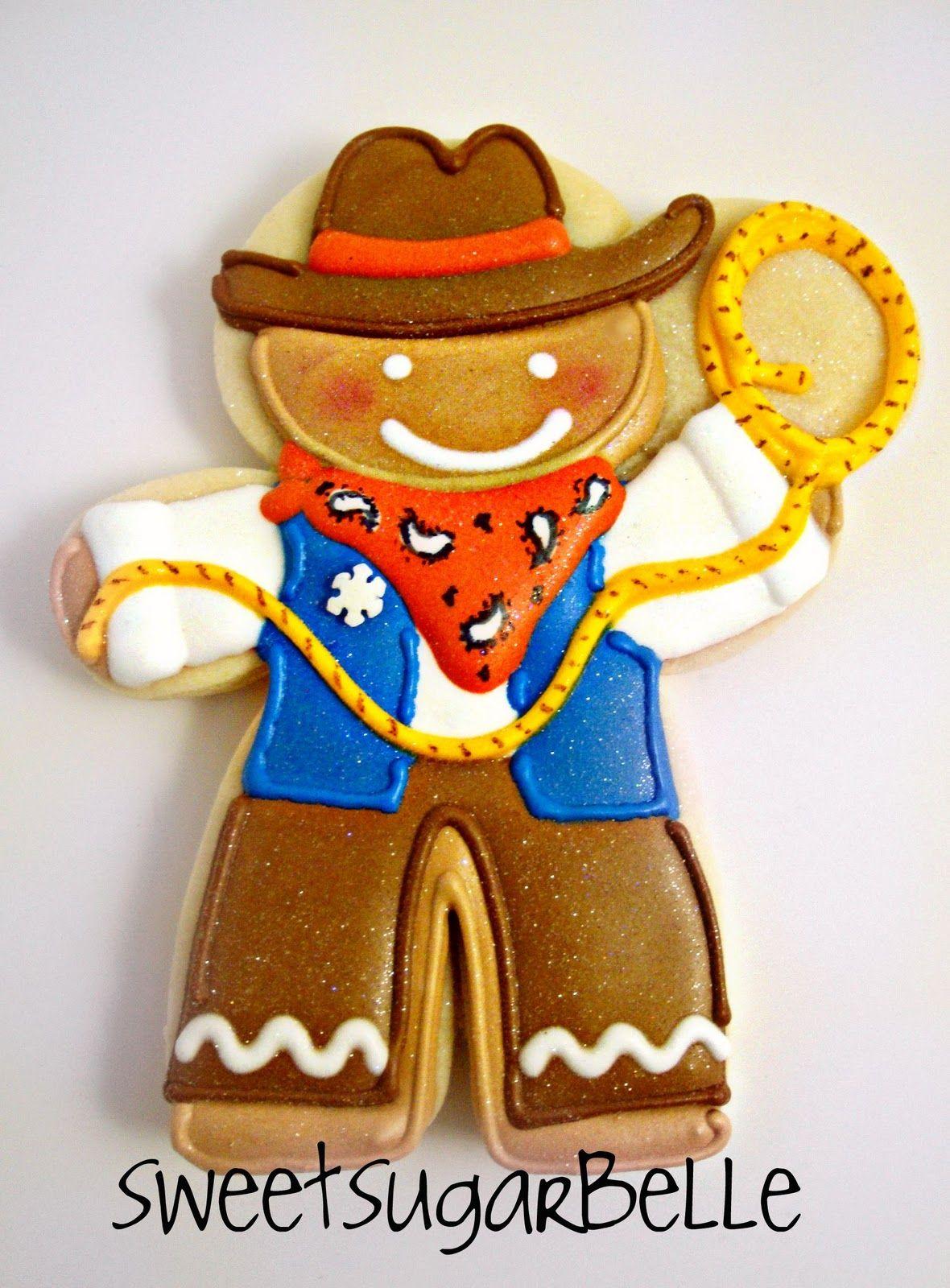 Cowboy Snowmen Cowboy cookies, Christmas cookies