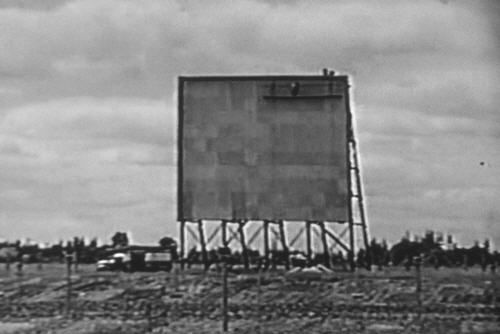 Original 99W screen tower under constuction. This tower was destroyed in the Columbus Day Storm, 1962