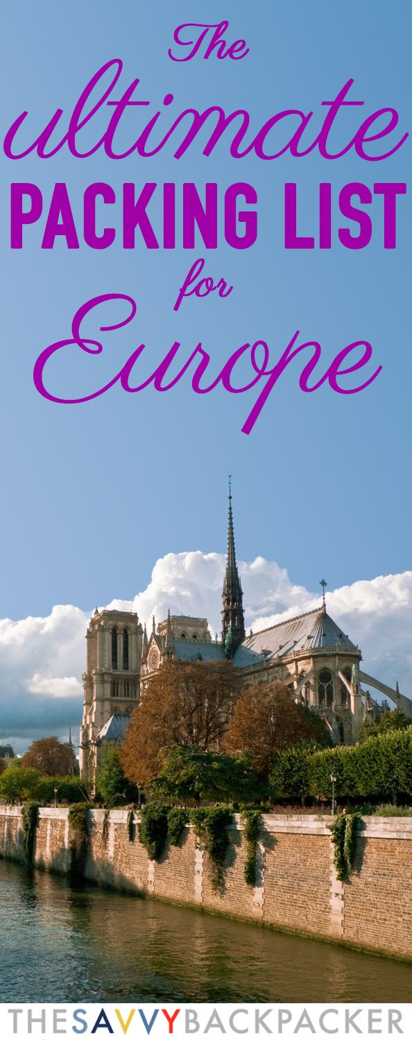 The Ultimate Europe Packing List | Lugares | List, Viajes ...