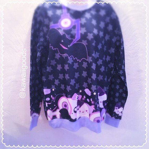 Spooky Crane Machine Sweater, Pastel Goth Sweater, Skeleton Sweater, Sweater, Kawaii Sweater, Pastel Sweater