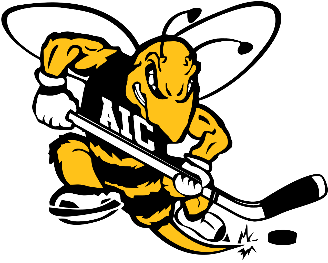 American International Yellow Jackets Hockey Google Search Hockey Logos Hockey Men S Hockey