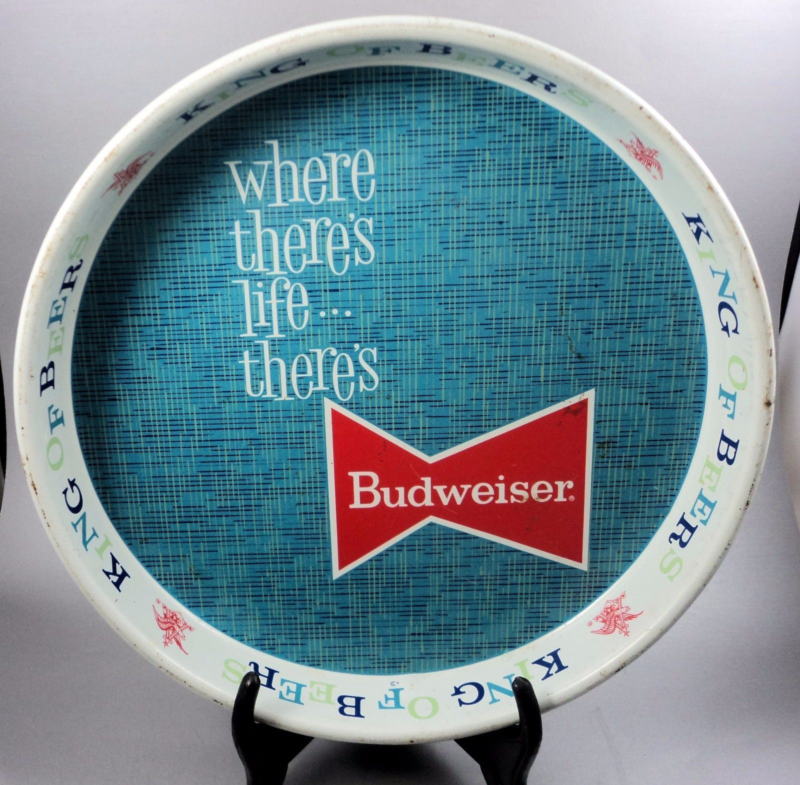 Vintage #budweiser light beer #serving tray #1970s breweriana,  View more on the LINK: http://www.zeppy.io/product/gb/2/222078481203/
