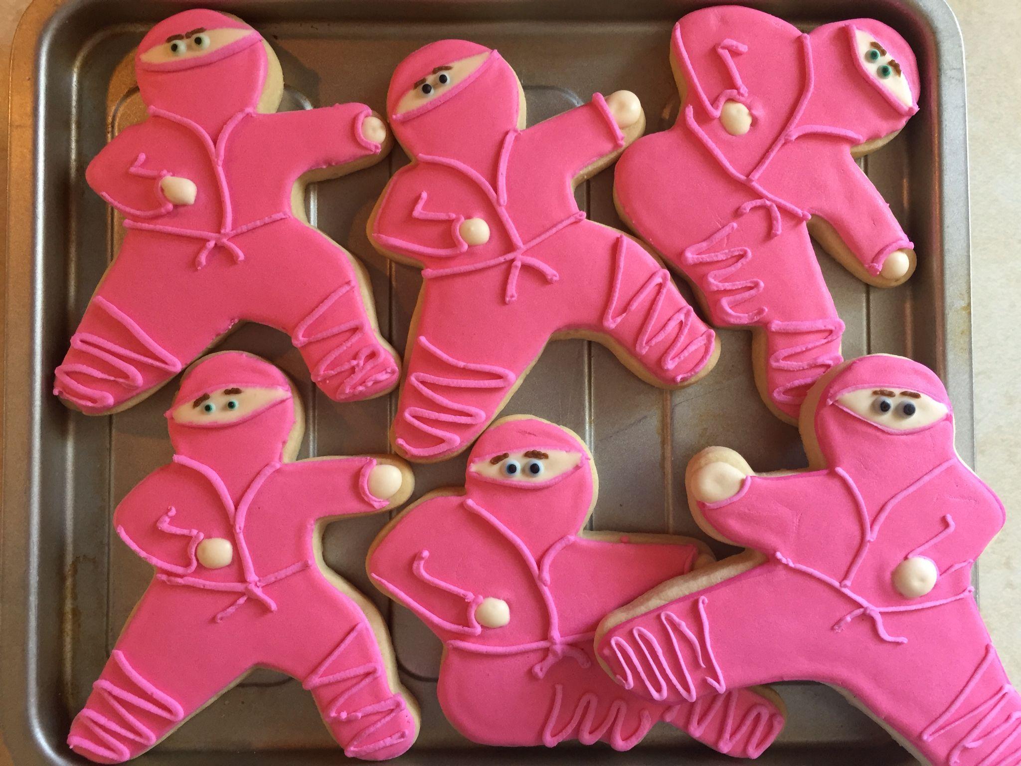 Pink Ninja Cookies by The Green Lane Baker Kids Birthdays
