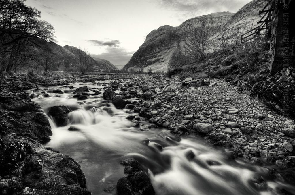 Landscape photography river etive water slow shutter long