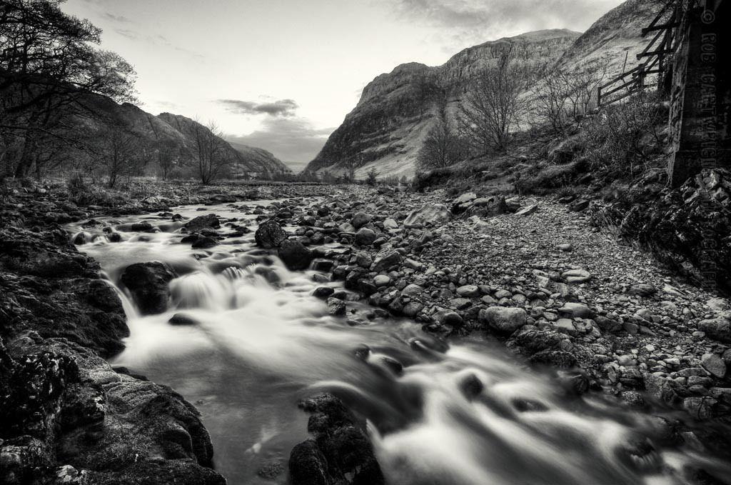 Landscape photography river etive water slow shutter long