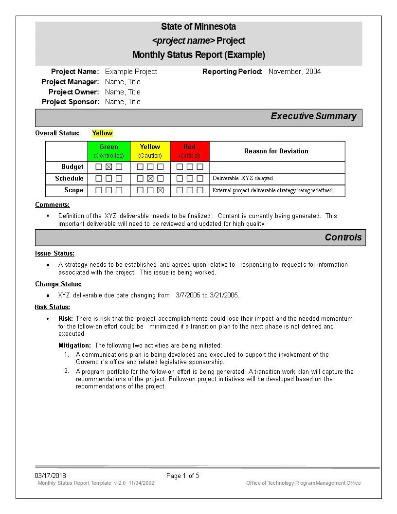 Monthly Status Report Template Magdalene Project For Monthly Project Progress Report Template Progress Report Template Project Status Report Report Template Monthly report template for manager
