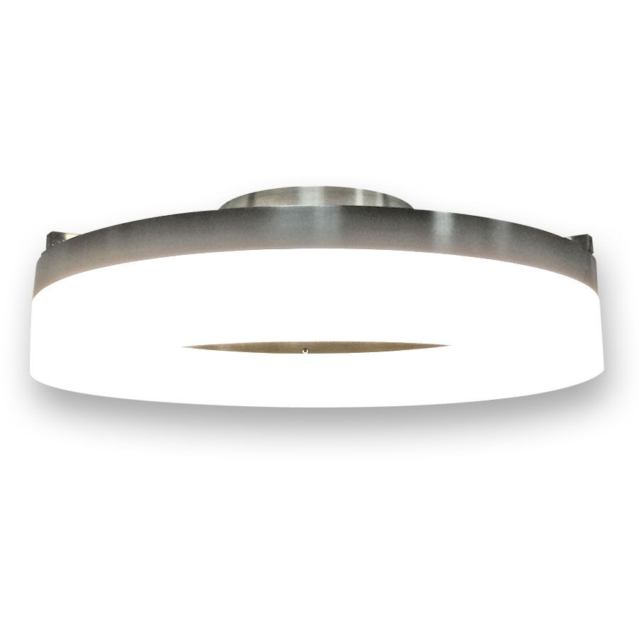 Style Selections Lynnpark 11 95 In W Brushed Nickel Integrated Led