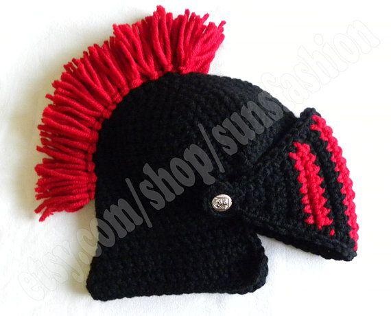 Caballero casco ganchillo sombrero original por sunsfashion en Etsy