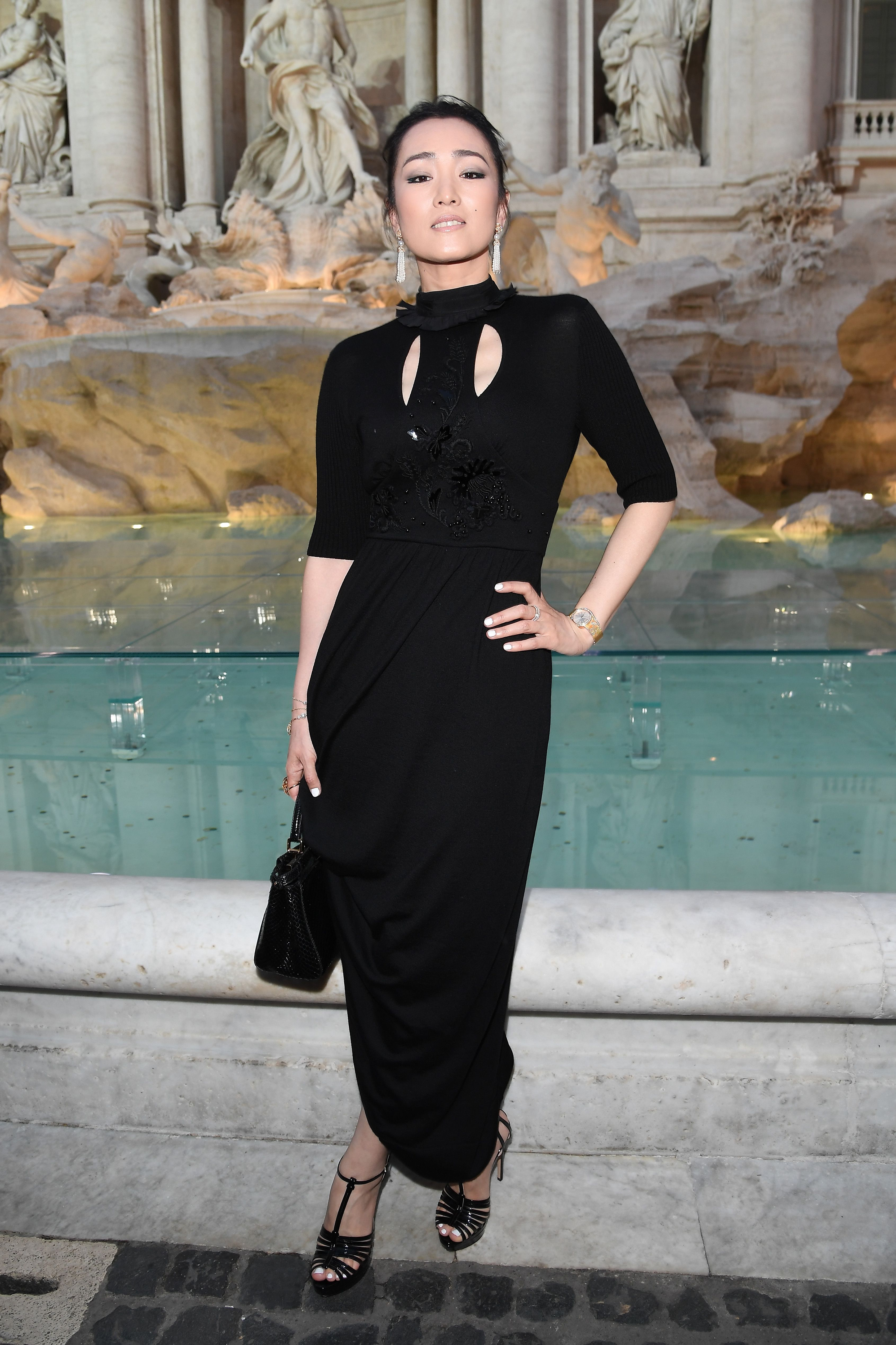 Gong Li at the Legends and Fairy Tales fashion show to celebrate Fendi 90 Years.