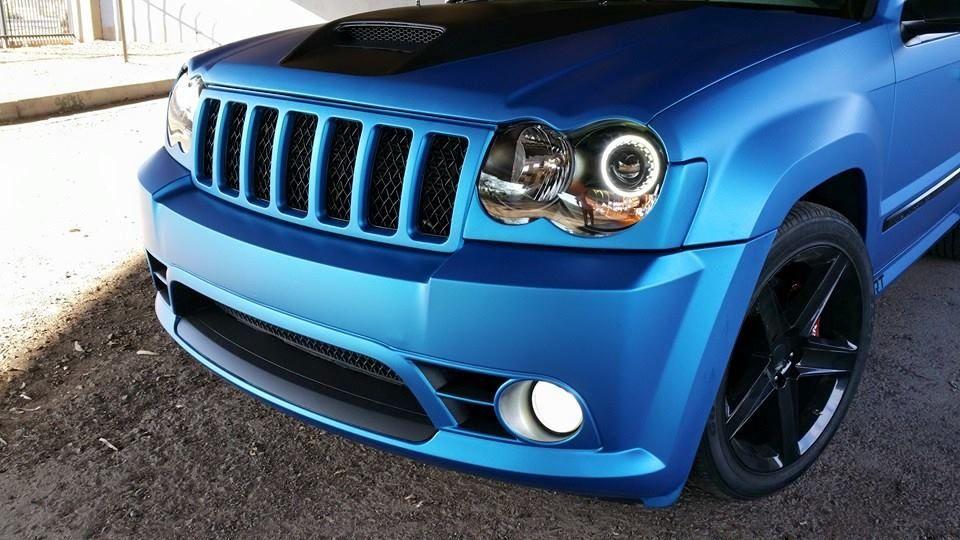 Jeep Grand Cherokee 3m Matte Metallic Blue Vinyl Wrap Deportes