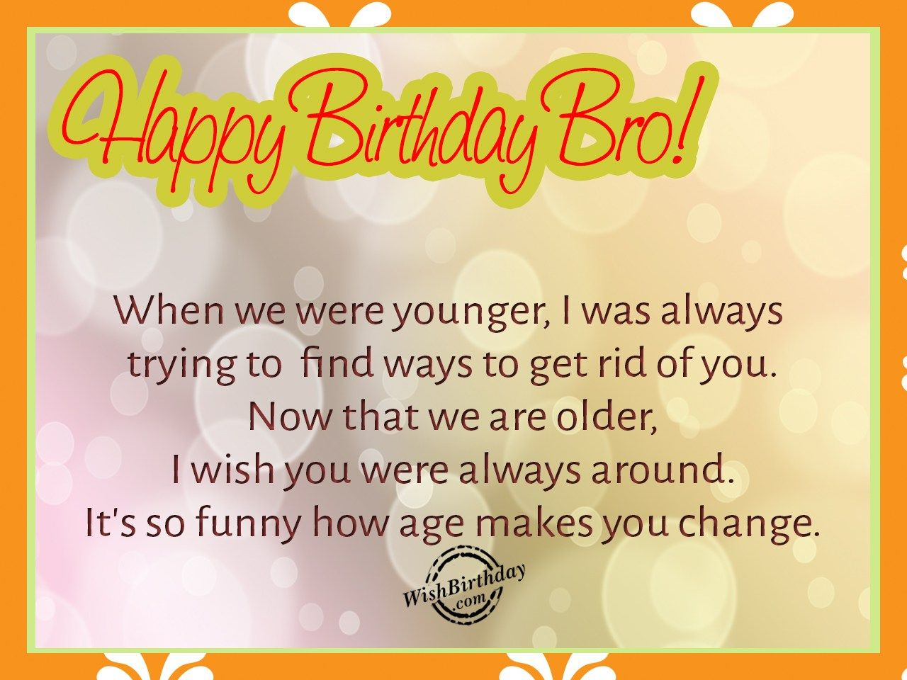 Happy Birthday Greetings Wishes For Brother Home Design Idea