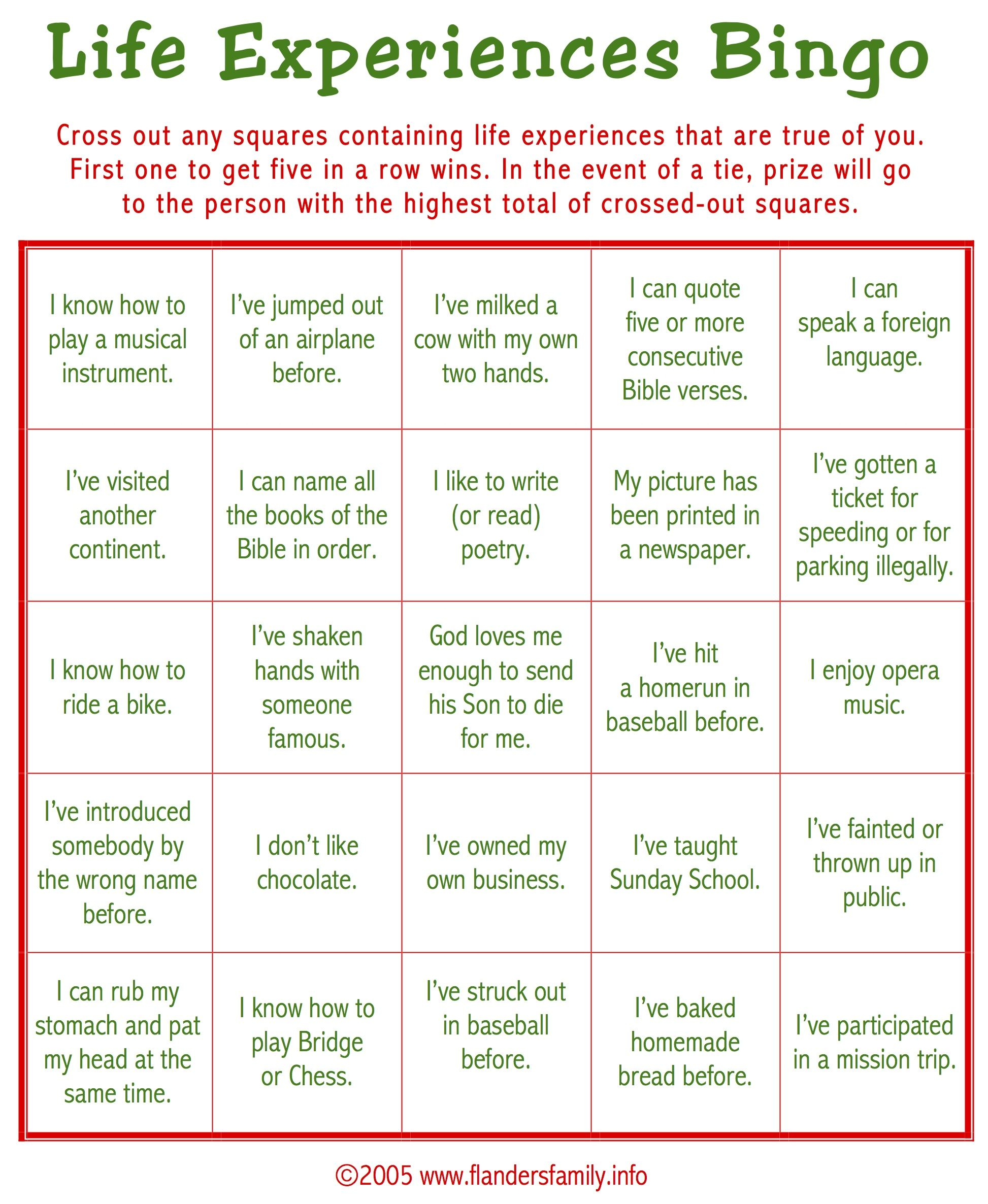 picture regarding Free Printable Women's Party Games identified as No cost Printable: This sport is a Terrific ice breaker. Perform it