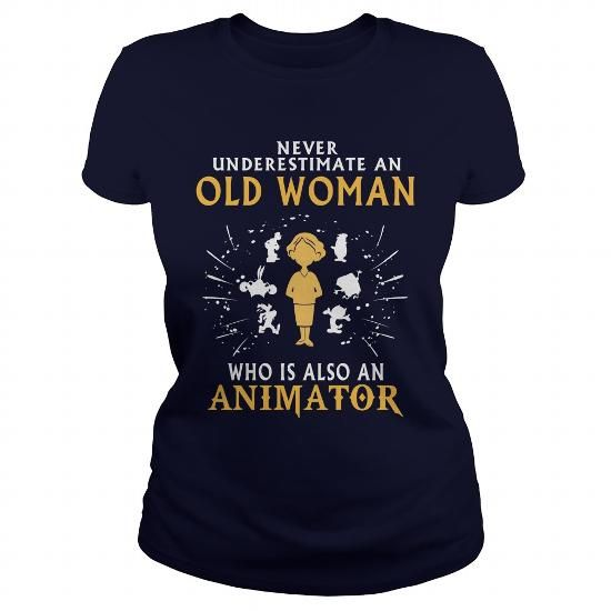 Animator old woman T-Shirts, Hoodies (22.99$ ==► Order Here!)