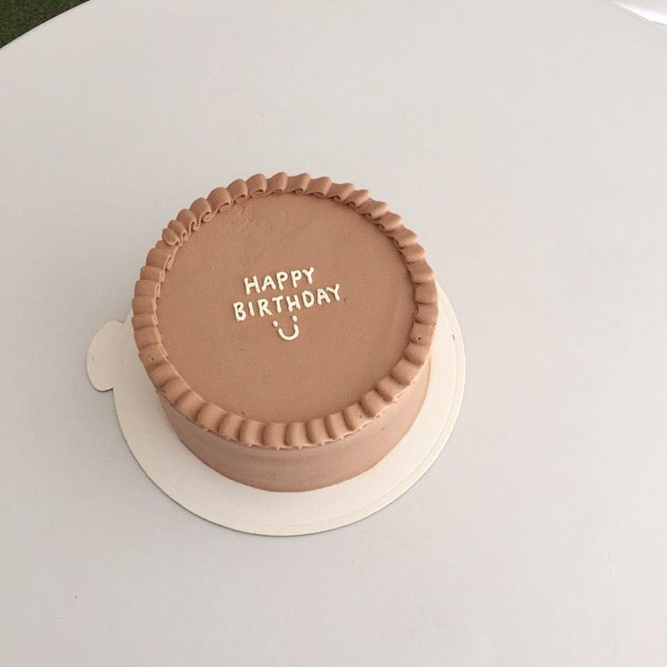 Swell Simple Birthday Cake Pretty Cakes Personalised Birthday Cards Arneslily Jamesorg