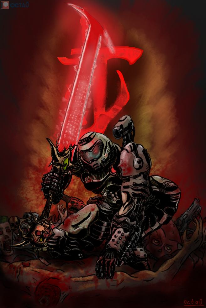 Doom Slayer By Octahedron0 On Deviantart Desenho De Personagens