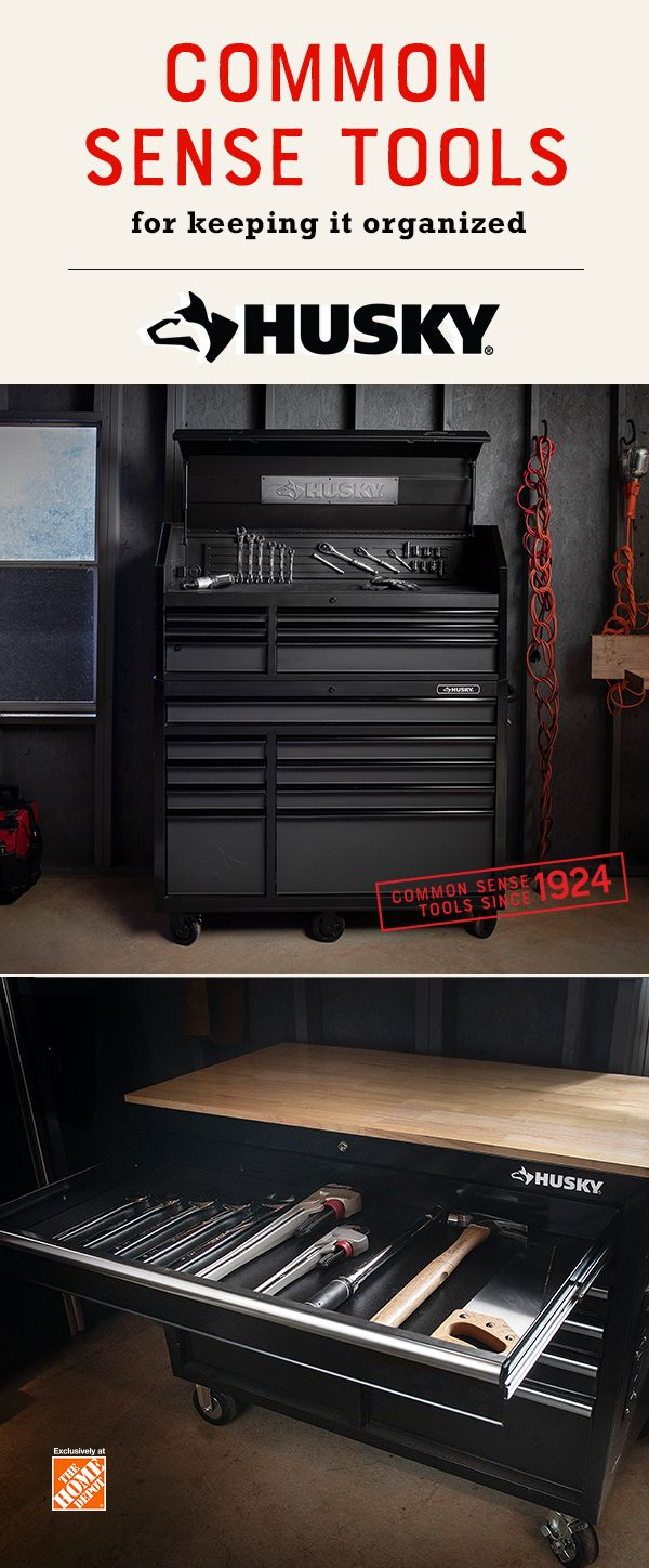 Great Quality Durable Husky Tools Deserve The Storage To Match The Husky Mobile Workbench And 52 In Tool Chest Are Built Toug Tool Storage Tool Chest Storage