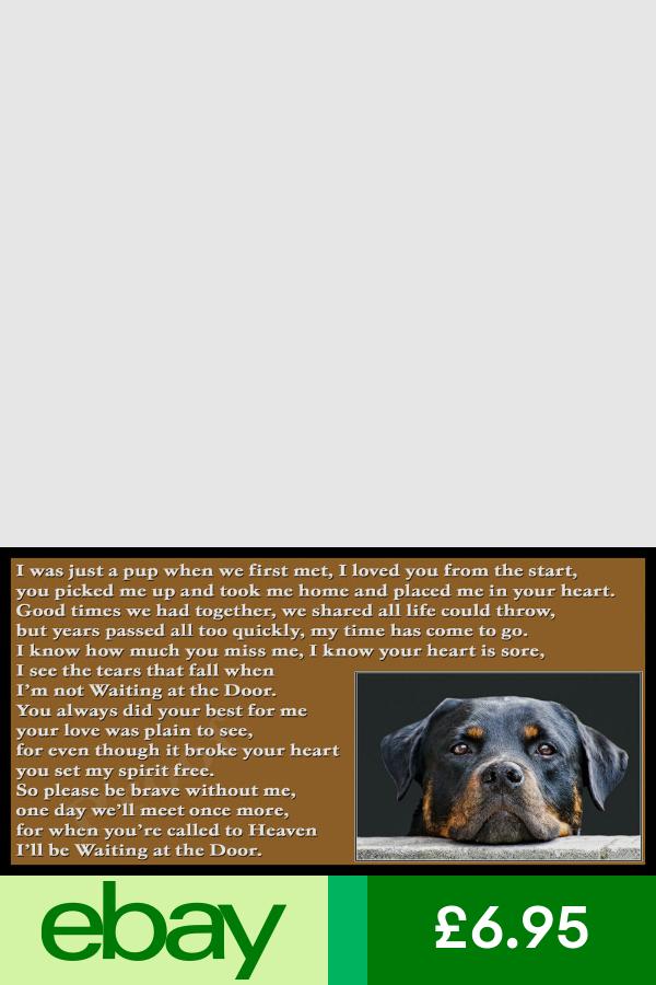 Pet Memorials Pet Supplies Ebay With Images Dog Memorial Gift