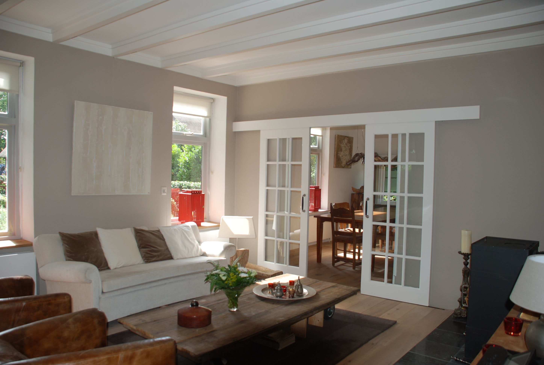 woonkamer met schuifdeuren naar de keuken   VERKOCHT: Alinghoek 11 ...