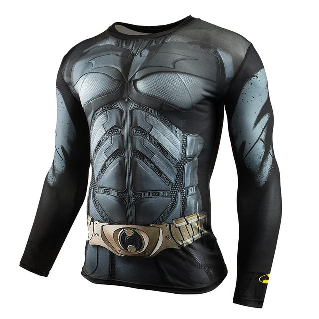 409516c23c Mens Roupas de Marca camisa de Fitness T 3D Superman Capitão América T-Shirt