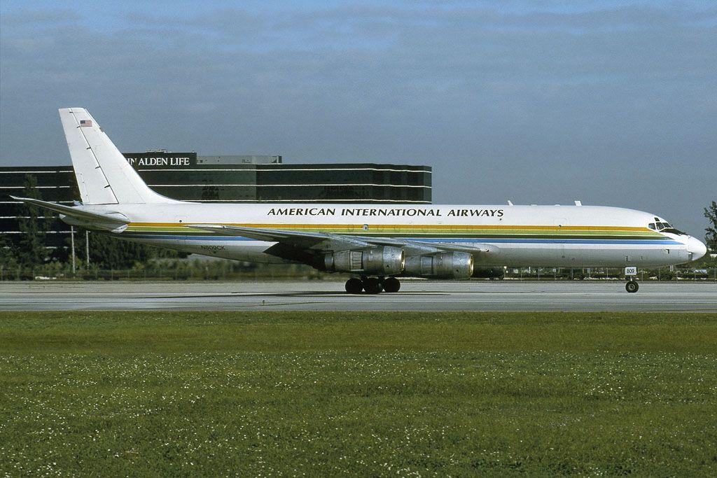 American International N809CK DC855F C/n 45803 MIA 24.11