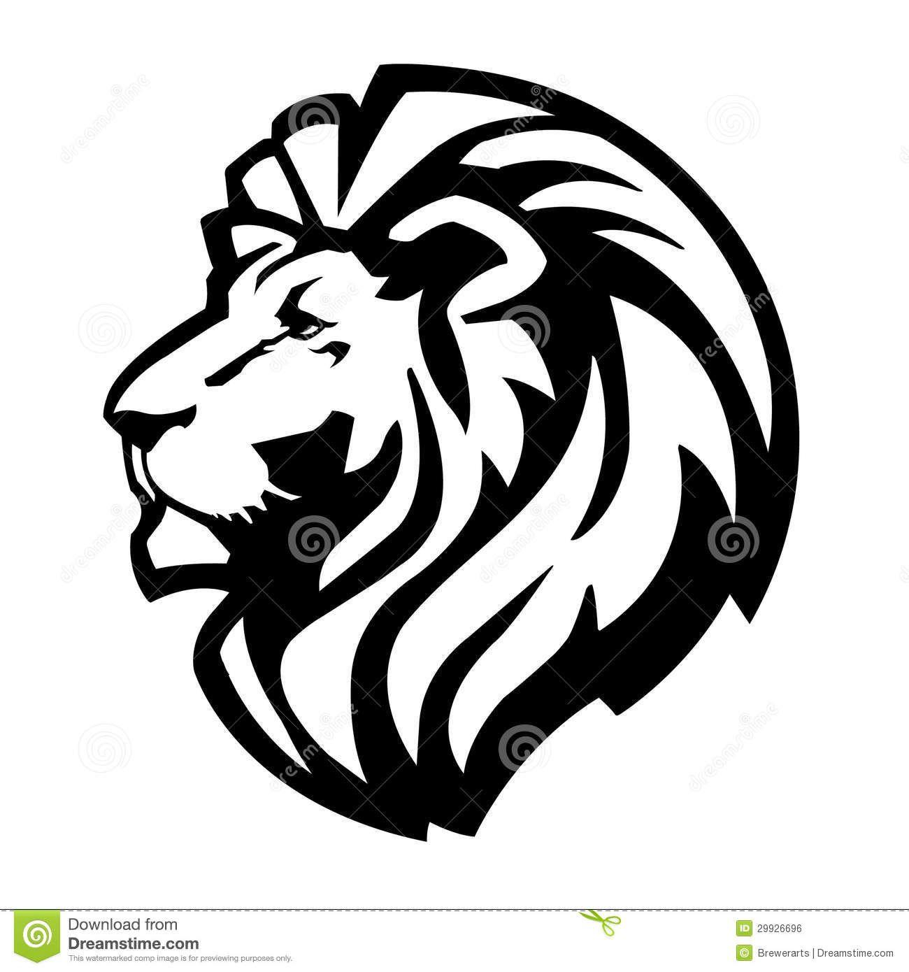 black and white lion of judah clip art Royalty Free