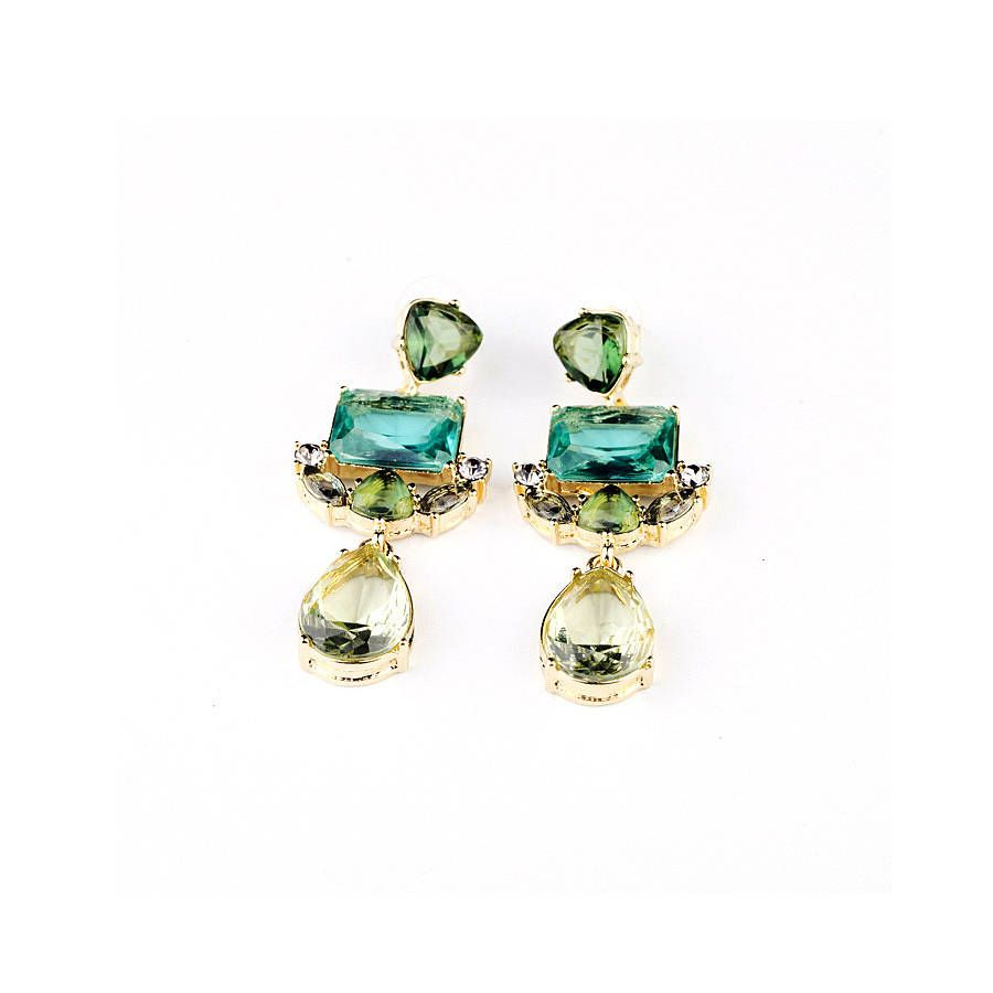 green statement drop earrings by anna lou of london | notonthehighstreet.com