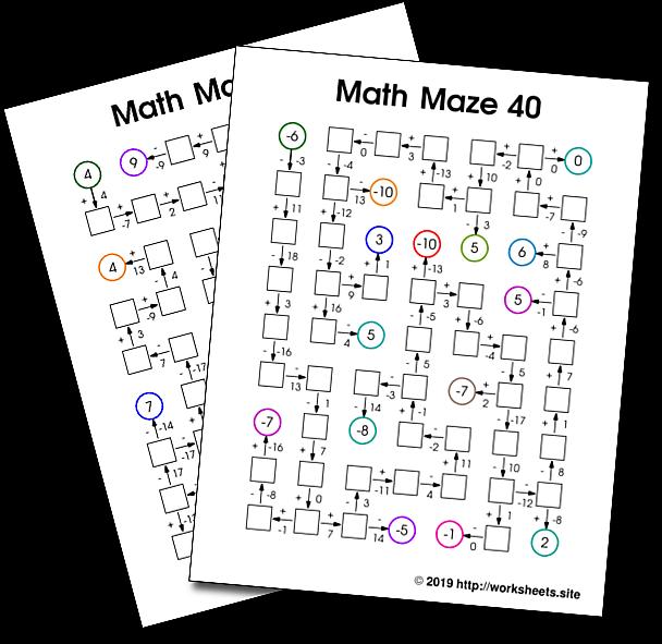 Math Grade Activities 7th Grade Math Activities 7th Grade Math Free Printables 7th Grade Mat Math Maze Fun Math Worksheets Maths Activities Middle School