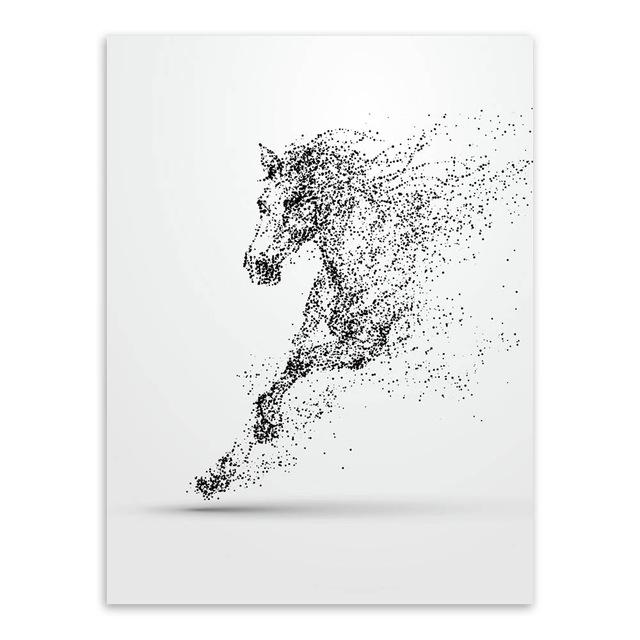 Modern Black White Ink Wild Animal Horse Wolf A4 Posters Nordic Living Room Wall Art Home Decor Canvas Painting Picture No Frame #allwhiteroom
