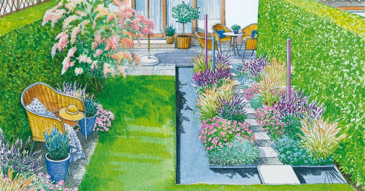 ein reihenhausgarten aus der reihe ideen rund ums haus pinterest. Black Bedroom Furniture Sets. Home Design Ideas