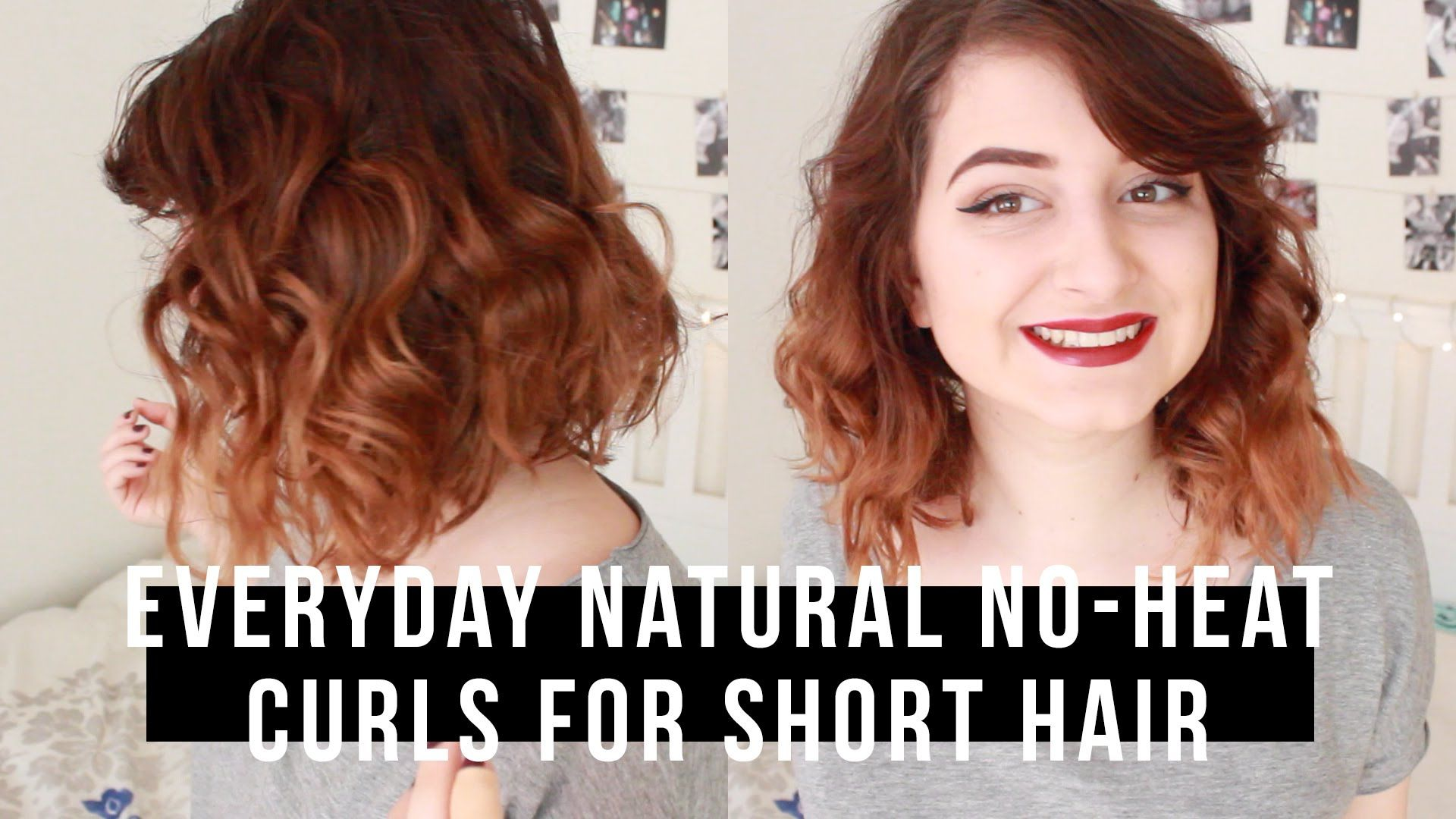 Everyday Natural No Heat Curls For Short Hair How To Curl Short Hair Curls No Heat Hair Without Heat