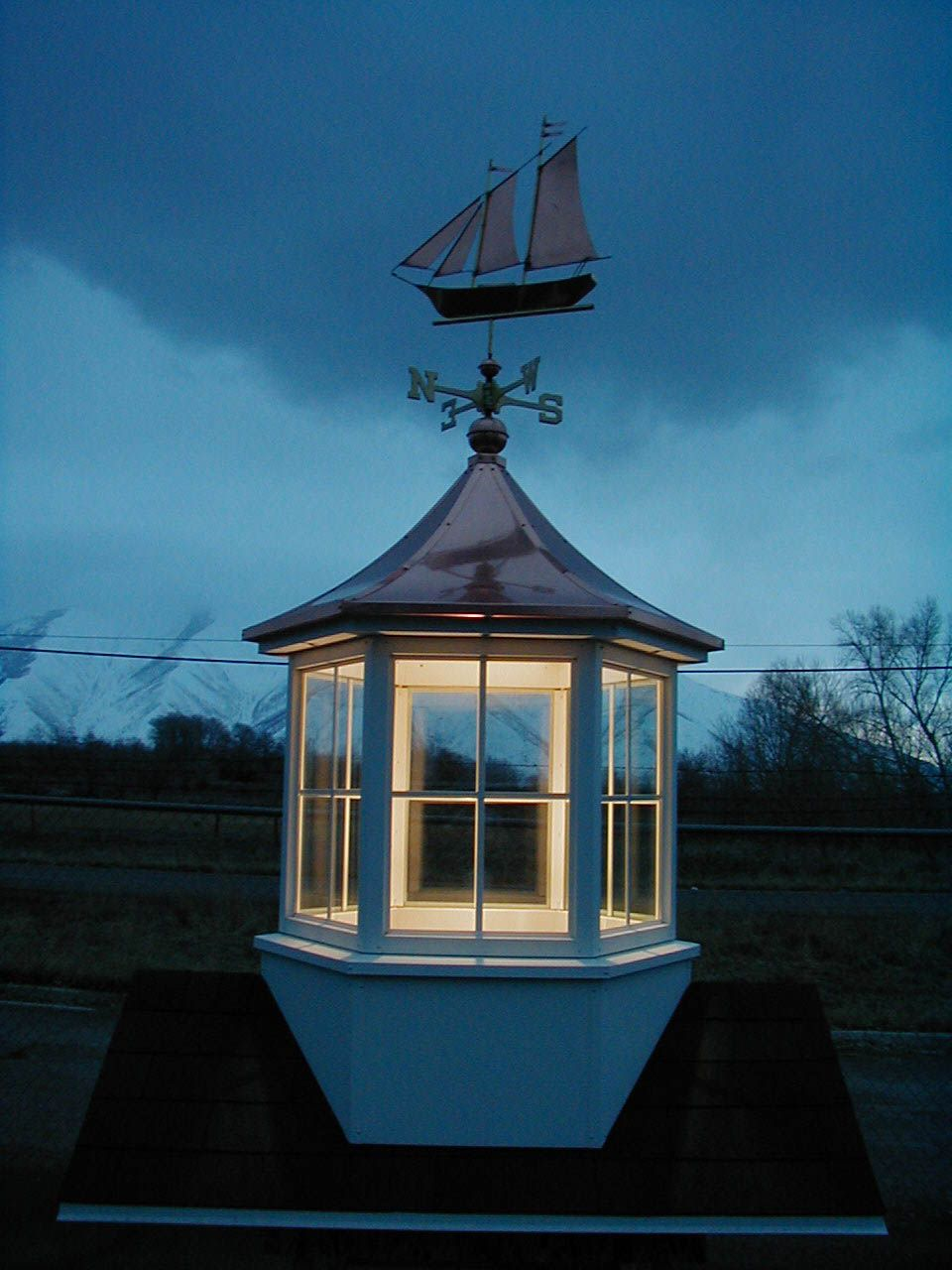 Put a light kit in your cupola cupolas pinterest for Pictures of houses with cupolas
