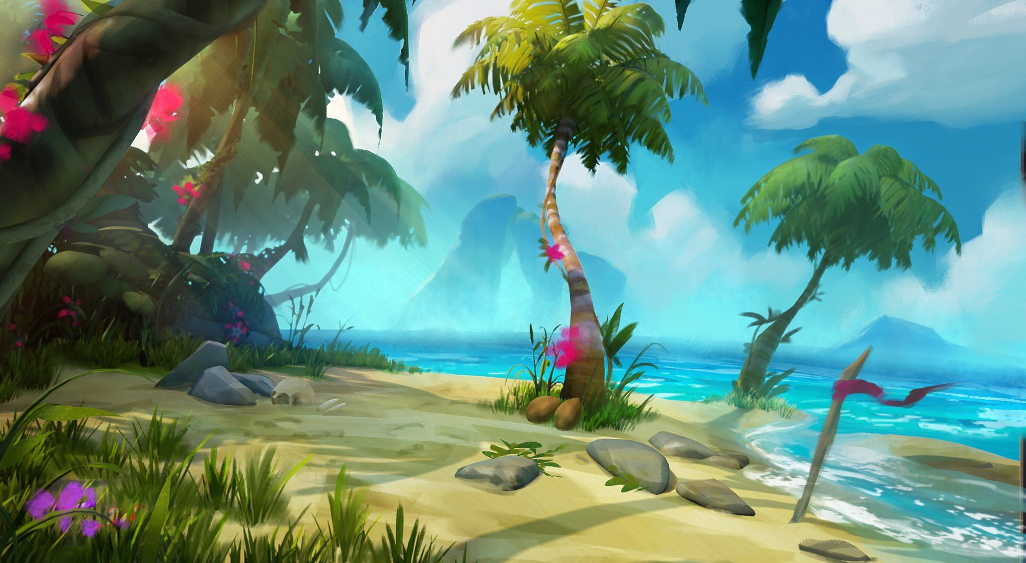 Sea Of Thieves Concept Art Early Island Sea Of Thieves