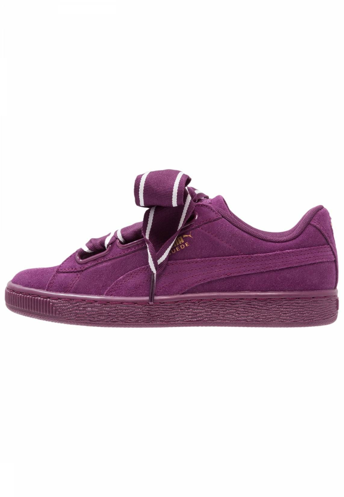 Puma Suede Heart Satin Ii Dark Purple Violet - Chaussures Baskets basses Femme