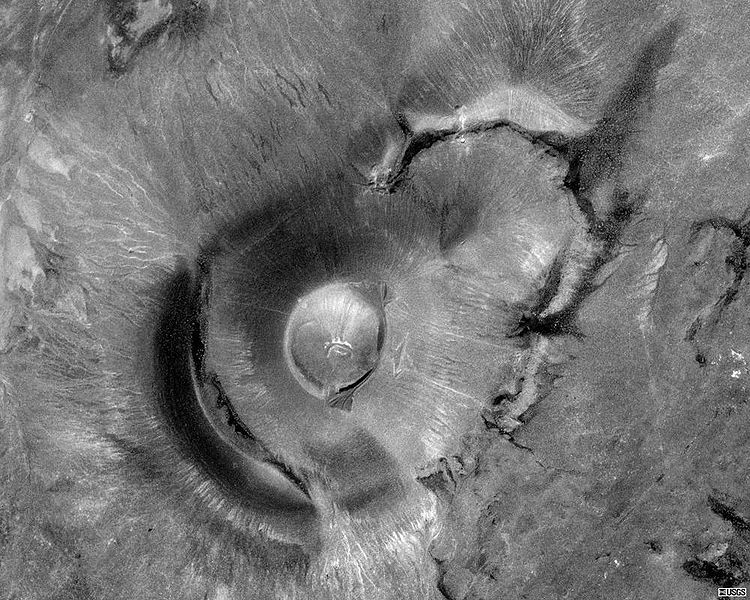 Elegant Satellite View Of Roden Crater, By James Turrell, At The Site Of An  Earthwork