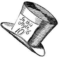 Hatter Beamed Proudly As The Visitor Approached Description From Mad Man With A Hat Tumblr Com I Searched F Mad Hatter Tattoo Mad Hatter Hat Clip Art Vintage
