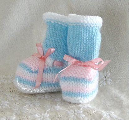 mayor selección gran venta seleccione para el más nuevo Cómo tejer zapatitos en varios colores de lana para bebes ...
