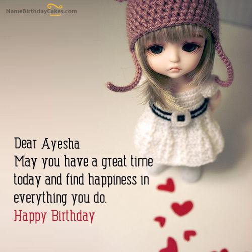 Doll Birthday Wish With Name [ayesha]