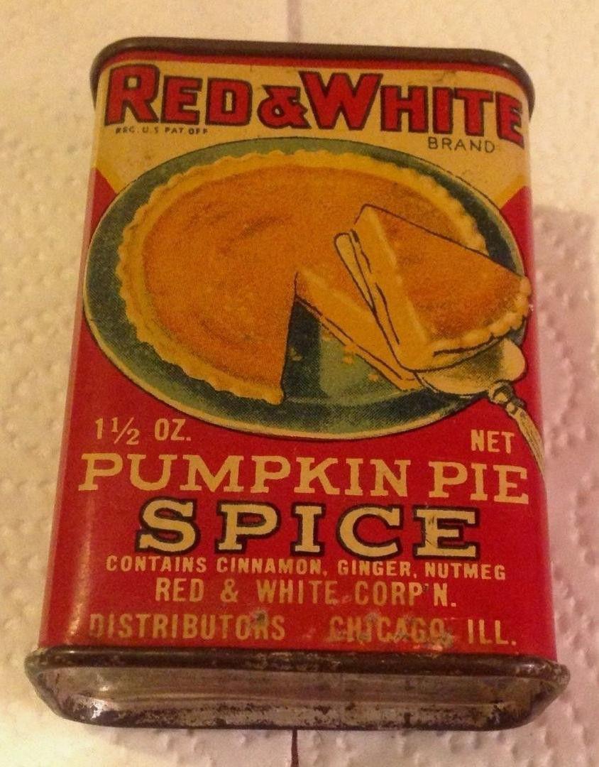 Vintage Pumpkin Pie Spice Tin