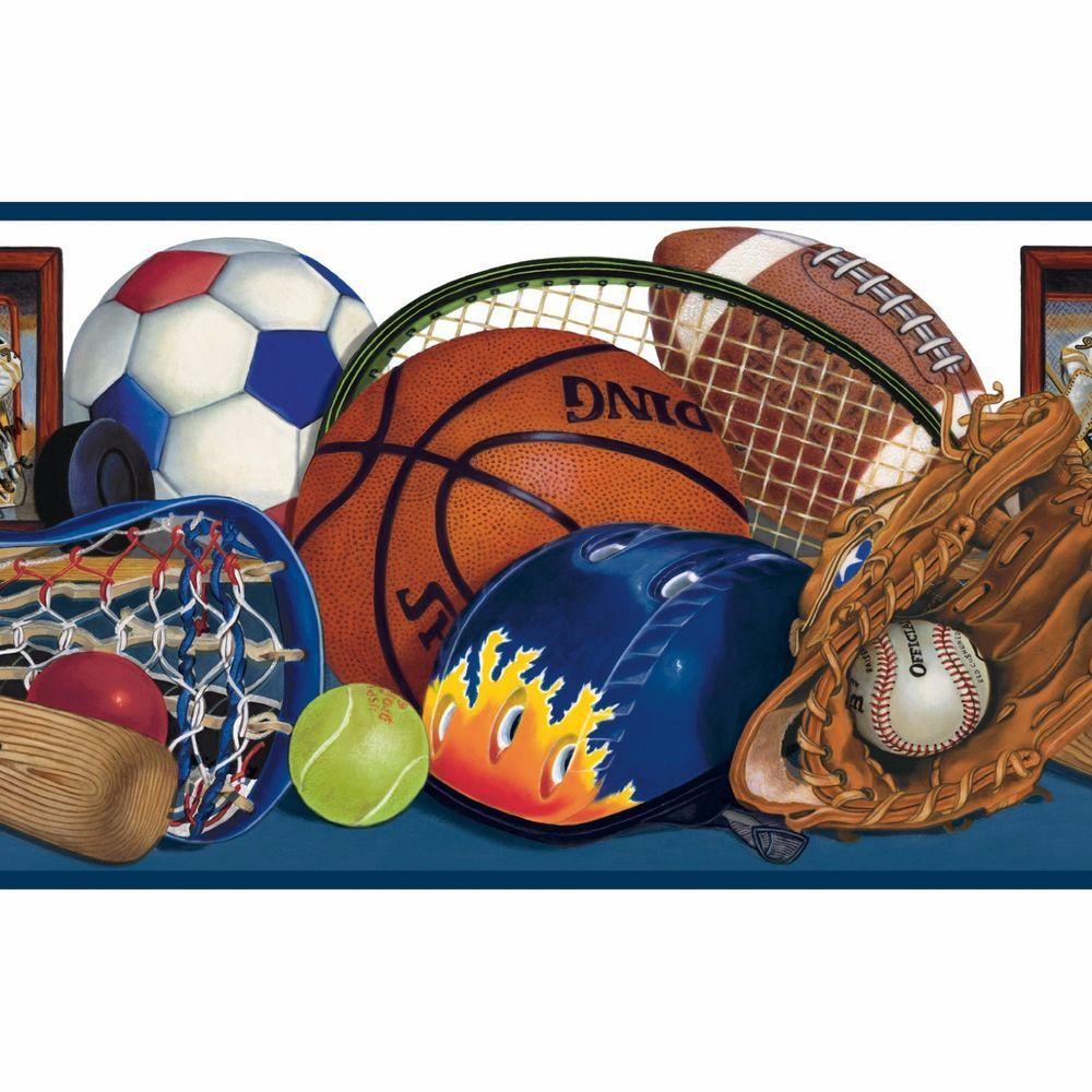 Sports Wallpaper Border Quick & Easy Flat Pk lacrosse
